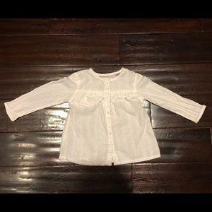 Zara Baby Girl White Frilled Buttoned Shirt